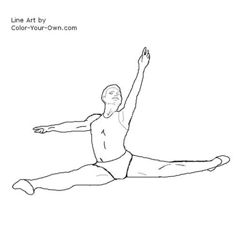 boy dancer coloring page dancers male ballet dancer coloring page 2