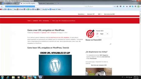 tutorial wordpress youtube tutorial wordpress configurando url amigables para
