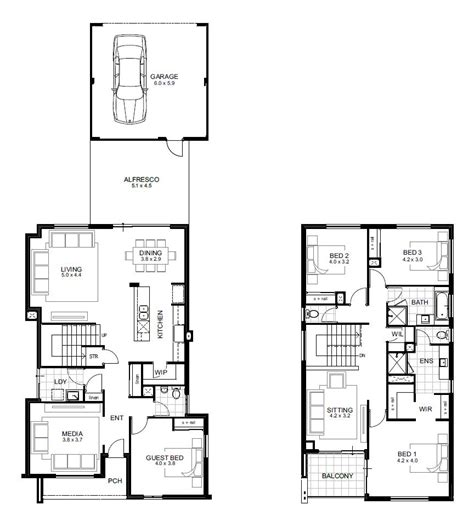 four bedroom double storey house plan double storey 4 bedroom house designs perth apg homes
