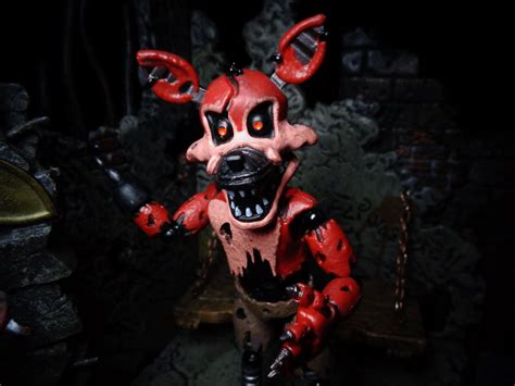 freddys foxy 2 nights at five life in plastic toy review nightmare foxy five nights