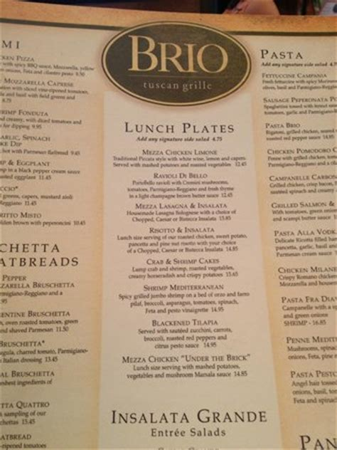 brio happy hour hours menu picture of brio tuscan grill cherokee tripadvisor