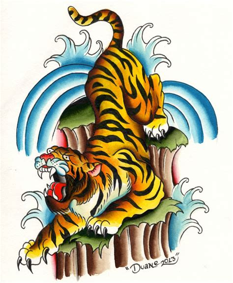 color tiger tattoo designs tiger drawing color www pixshark images