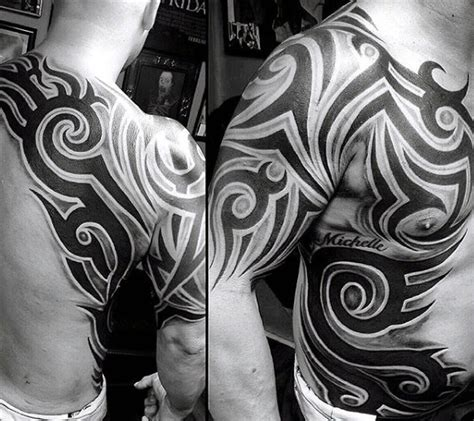 chest tribal tattoos for men 50 tribal chest tattoos for masculine design ideas
