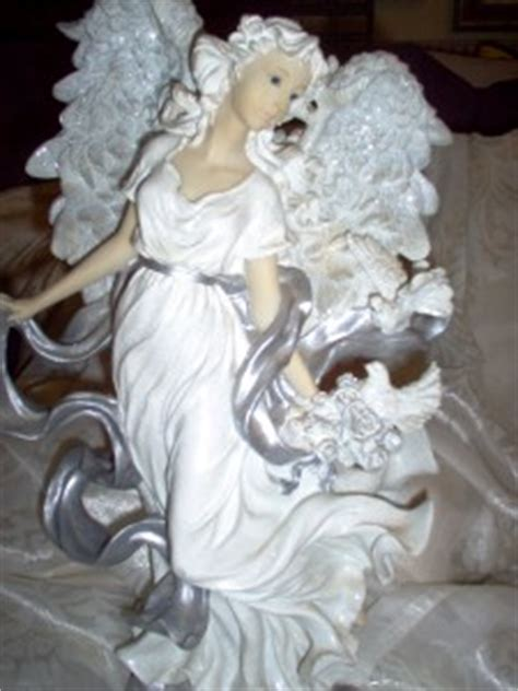 home interior angel figurines home interior silver glory angel figurine see pictures ebay