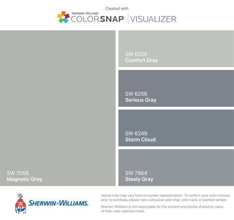 sherwin williams gray paint colors i found these colors with colorsnap 174 visualizer for iphone
