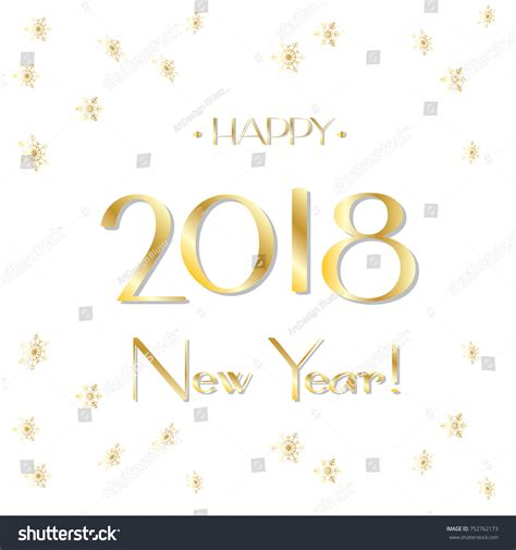 happy new year title vector happy new year 2018 luxury greeting stock vector 752762173