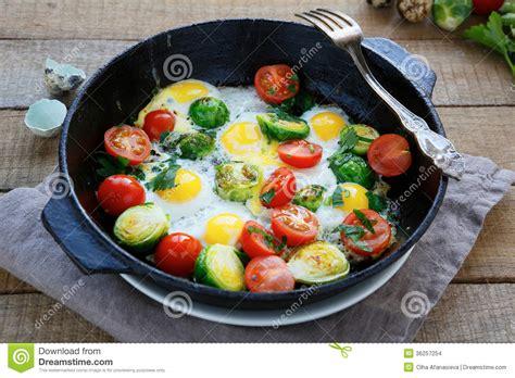 vegetables for breakfast eggs with vegetables for breakfast stock images image