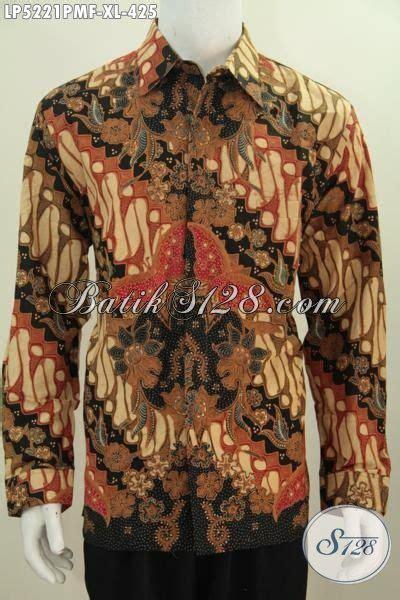 Batik Slimfit Premium Bunga Parang Serangkai kemeja batik parang bunga lengan panjang proses kombinasi tulis daleman furing pilihan