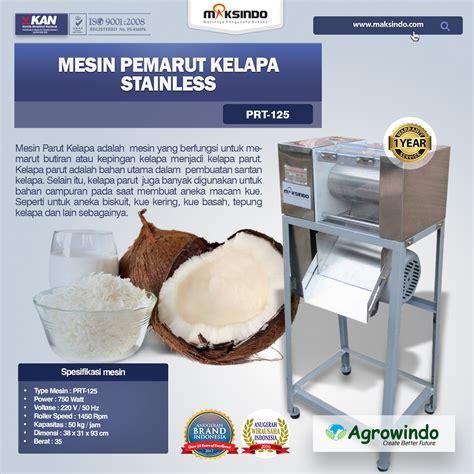 Jual Sabut Kelapa Surabaya jual mesin pemarut kelapa stainless prt 125 di surabaya