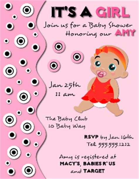 templates for baby shower flyer baby shower invitation flyer template for a girl created