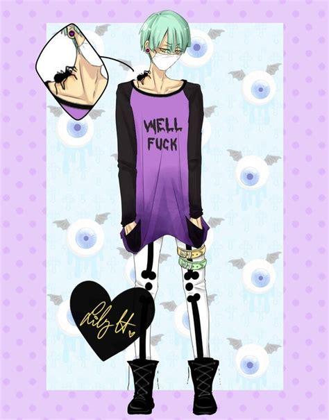 pastel goth boy girl pastel goth boy anime