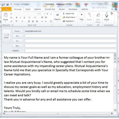 Networking Cover Letter Email 100 email sle to send resume how to send an email