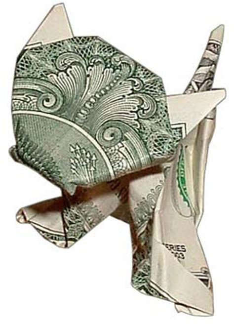 Cat Origami Dollar Bill - money origami 13 nick cannon admin flickr