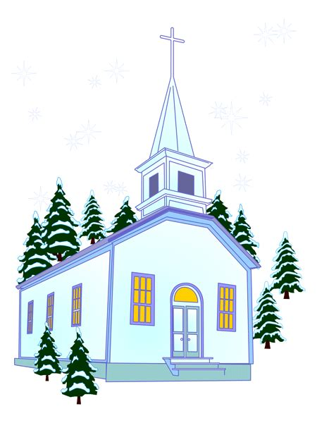 Church in winter clip art clipart panda free clipart images