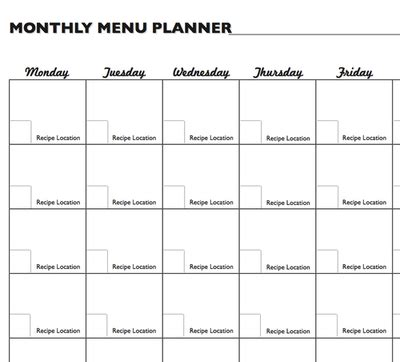 monthly meal calendar template monthly meal planning calendar template plan worksheet