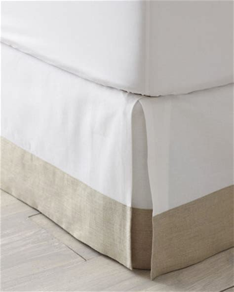 pleated bed skirt linen trimmed box pleated bedskirt traditional