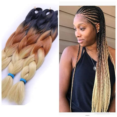 colored kanekalon hair best 25 colored box braids ideas on blue box