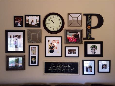 wall decor photo frame decorating living room wall with initial 31 collage