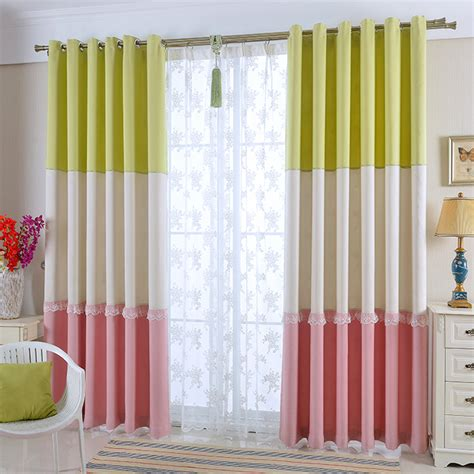 Block Print Curtains Color Block Print Chenille Custom Window Curtains