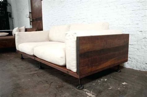 cushions for wooden sofa wooden with cushions the great indoors a rustic