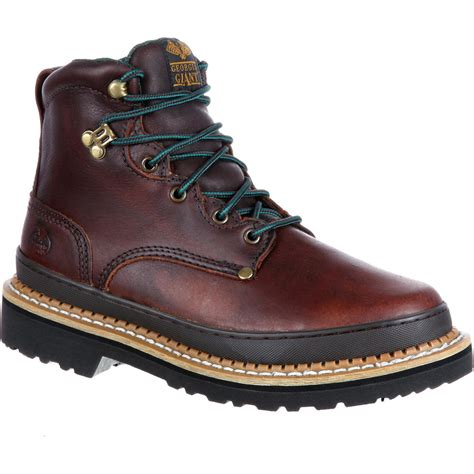 mens leather work boots s brown leather lace up work boot boot g6274