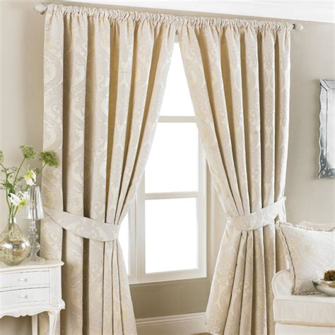 jacquard curtains cream renaissance jacquard woven lined pencil pleat curtains