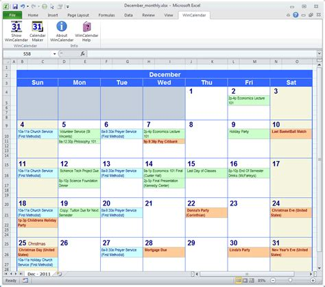 Microsoft Calendar Calendar Maker Calendar Creator For Word And Excel