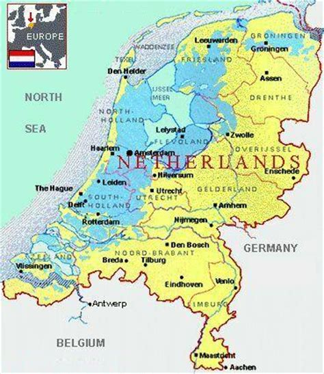 netherlands map and cities map of netherlands cities pictures map of netherlands