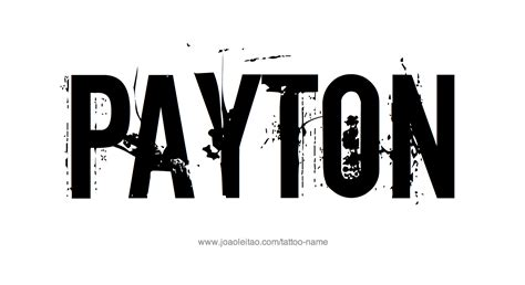 payton name tattoo designs