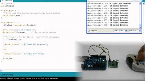arduino tutorial ir sensor ir sensor interfacing arduino youtube
