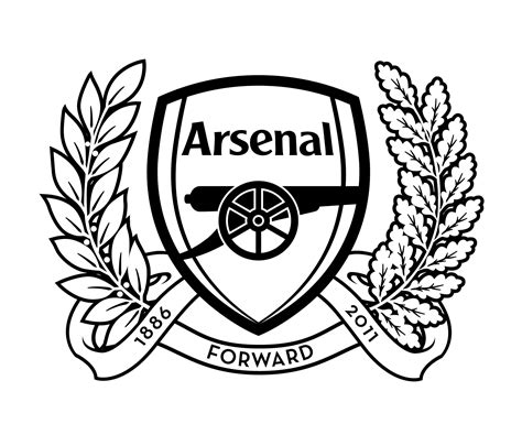 free coloring pages of arsenal logo
