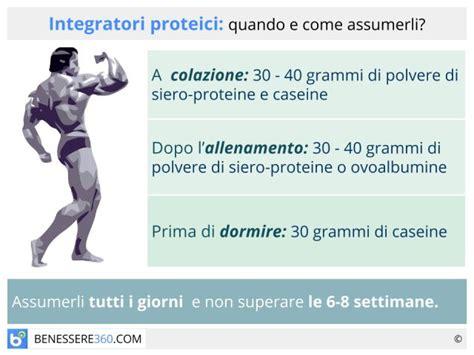 quali sono gli alimenti proteici integratori proteici quando e come assumerli fanno