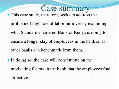 what is a chartered bank a study on employees motivation at the standard