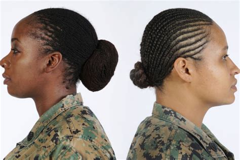 usaf women hairstyles pictures marine corps authorizes twist and lock hairstyles for
