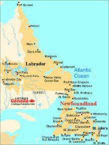 map of labrador canada canada map of newfoundland nfl and labrador