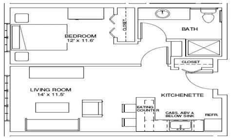 one bedroom efficiency one bedroom apartment floor plan 1 bedroom efficiency