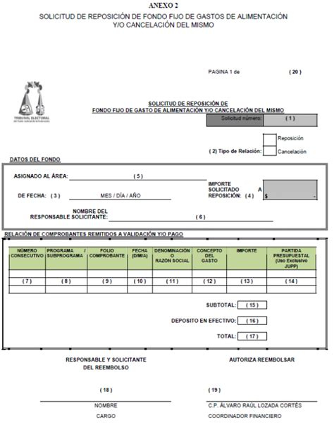 formato multiple de pago a la tesoreria reposicion dof diario oficial de la federaci 243 n