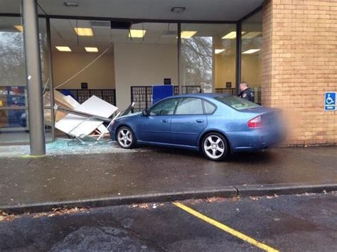 Post Office Tigard by Tigard Post Office Window Is Shattered After Car Drives