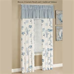 Sea Themed Curtains Treasures By Sea Blue Coastal Window Treatment