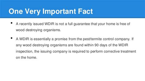 Mortgagee Letter Termite are termite letters required in