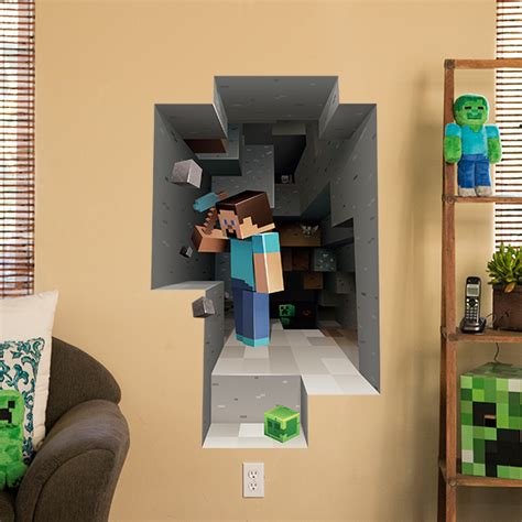 minecraft wall stickers j nx minecraft wall clings mining 2 pack clothing inspired by culture