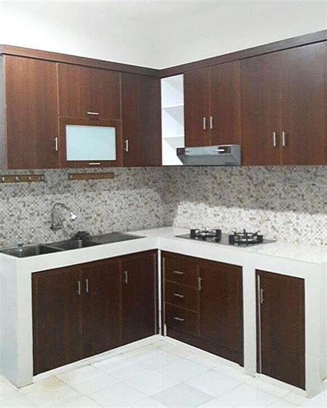 design dapur sederhana sekali 95 kitchen set minimalis sederhana modern terbaru dekor