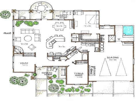 space efficient floor plans open floor plans 1 story space efficient house plans