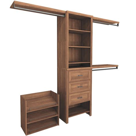 closetmaid 5 feet 10 feet closetmaid impressions 5 ft 10 ft walnut premium