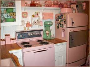 Pink Vintage Kitchen Accessories Retro Kitchen In Old Fashioned Pink Style Faxo