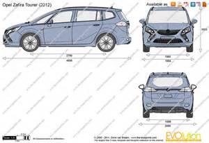 Dimensions Of Vauxhall Zafira The Blueprints Vector Drawing Opel Zafira Tourer
