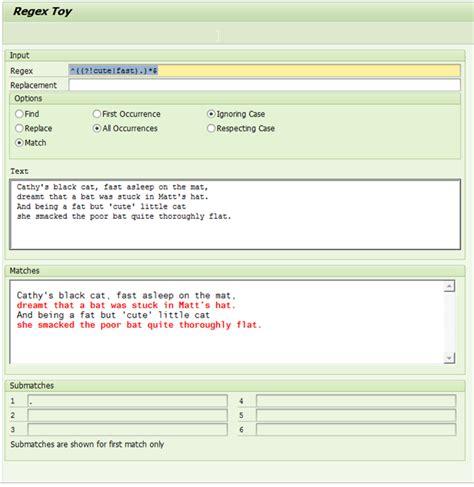 regex pattern abap havliczech source code exploration using regular expressions