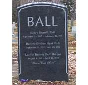 Lucille Balls Grave Site  In Lak