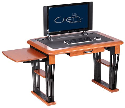 desk with printer storage modern urban printer shelf caretta workspace