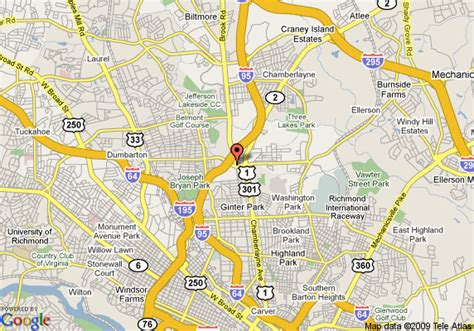 richmond va map map of richmond va images